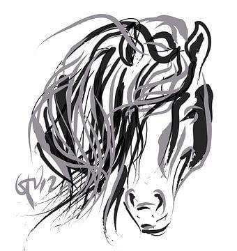 Pferd und Haar von Go van Kampen