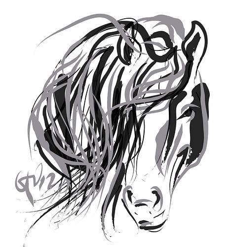 Pferd und Haar von
