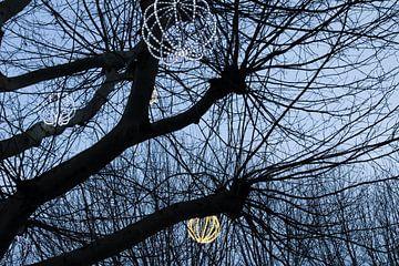 December in de lucht op het Leidseplein van Jeroen van Dijk
