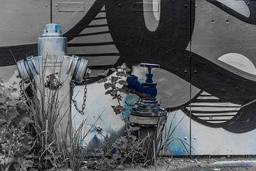 Brandkraan voor graffiti muur van Ans Bastiaanssen