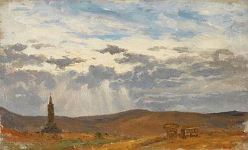 Carlos de Haes-Das Kreuz, Steinkloster, Antike Landschaft