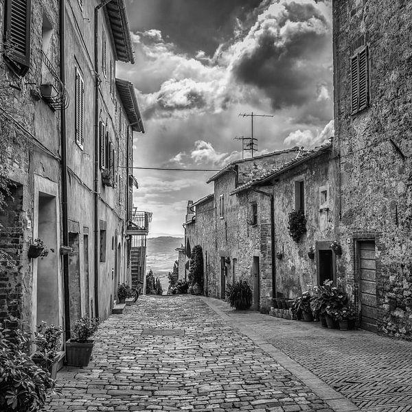 Italien im quadratischen Schwarzweiss, Toskana von Teun Ruijters