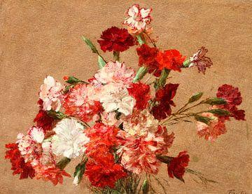 Nelken ohne Vase, Henri Fantin-Latour