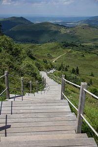 mountain stairway