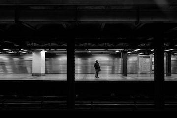 New York metro in schwarz weiss 1 von Ingrid Meuleman