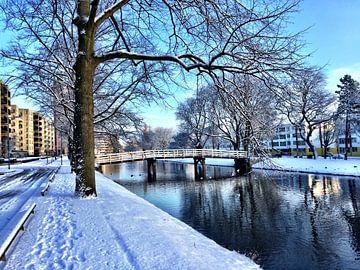 Winter in Rotterdam van Liesbeth Vollemans
