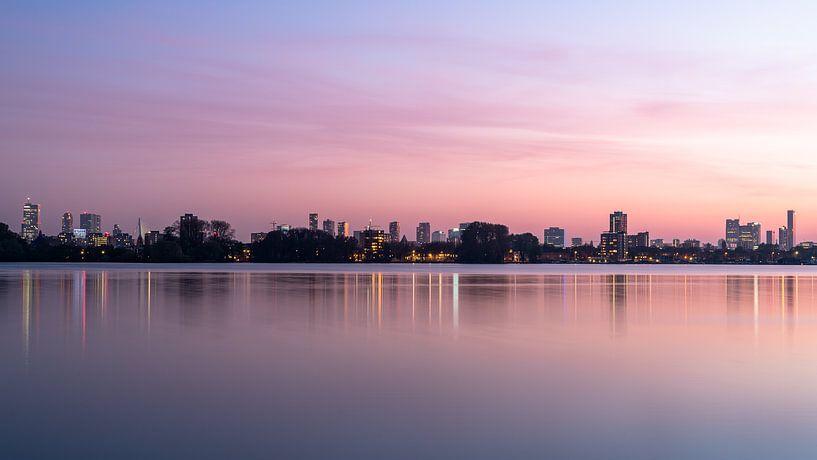 Rotterdamse zonsondergang van Jeroen Kleiberg