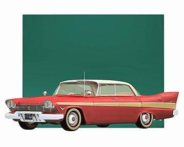 Klassieke auto – Oldtimer Plymouth Belvedre Sport Sedan 1957 van