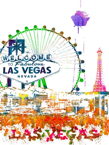 Las Vegas van Printed Artings