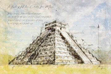 Maya Pyramide, Mexiko von Theodor Decker
