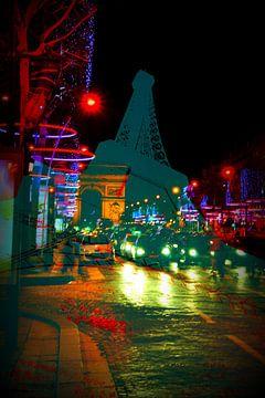 Parijs bij nacht van Bianca Dekkers-van Uden