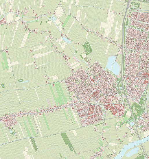 Kaart vanIJsselstein van Rebel Ontwerp
