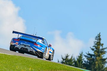 Porsche 911 RSR-raceauto op Spa Franchorchamps van Sjoerd van der Wal