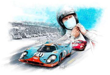 Porsche 917 - Steve McQueen - Le Mans 1970 van Martin Melis