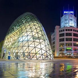 Panorama de Blob en Lichttoren Eindhoven van Anton de Zeeuw