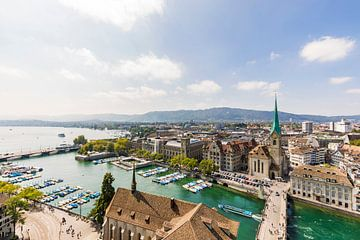 Zürich aan het meer van Zürich van Werner Dieterich