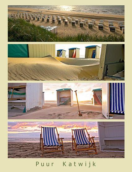 Strandcabines in Katwijk van Dirk van Egmond