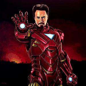 Robert Downey Jr. als  Iron Man schilderij