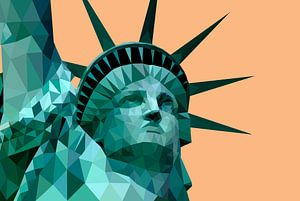 Low Poly - Freiheitsstatue, New York - Amerika