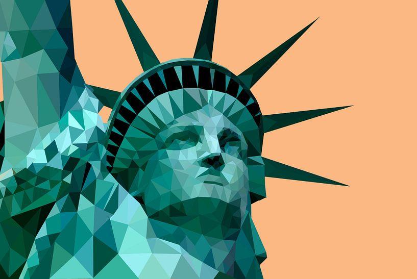 Low Poly - Freiheitsstatue, New York - Amerika von Be More Outdoor
