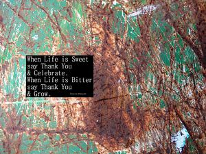 When Life is Sweet say Thank You and Celebrate...