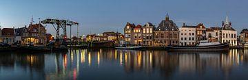 Maassluis Haven in der Nacht von Daan Kloeg