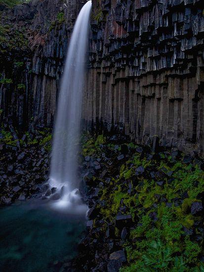 Svartifoss waterval, IJsland van Pep Dekker