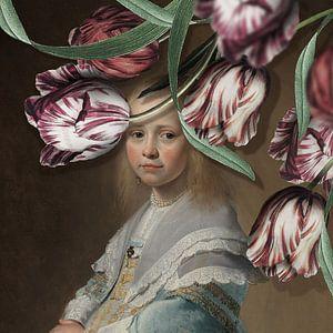 Portret van een Meisje - de Tulpen Editie