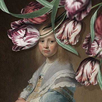 Portret van een Meisje - de Tulpen Editie sur Marja van den Hurk