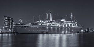 The SS Rotterdam by Night - 1