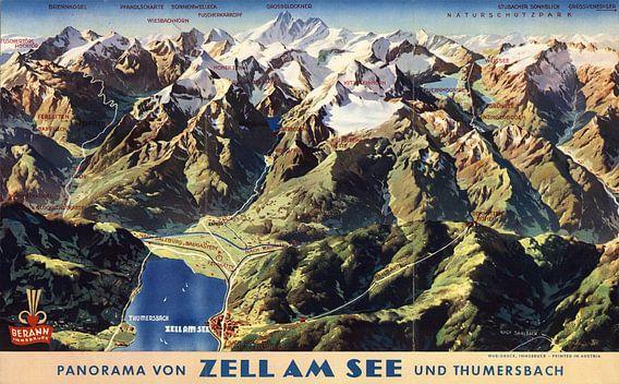 Panorama von Zell Am Zee und Thumersbach, Austria. van Meesterlijcke Meesters