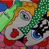 Wijn en vriendschap mini-canvas van Angelique van 't Riet thumbnail