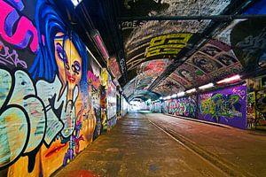 Graffiti tunnel onder Station Waterloo 2/3  te Londen