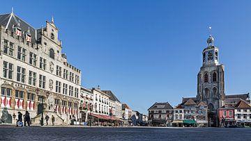 Stadhuis en de Peperbus in Bergen op Zoom (panorama) van Fotografie Jeronimo