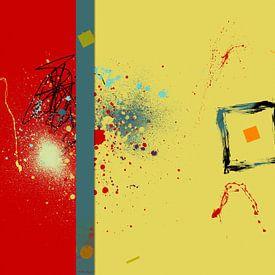 Abstrakt Rot Gelb von Marion Tenbergen
