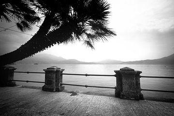 Lago Maggiore, Italië (zwart-wit)