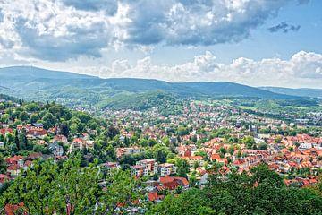 Wernigerode, beau village allemand dans les montagnes du Harz sur Jan van Broekhoven