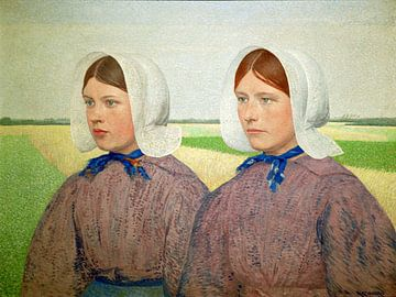 Diese Kaisermädchen tragen die Isabee, einen Baldachinhut von Atelier Liesjes