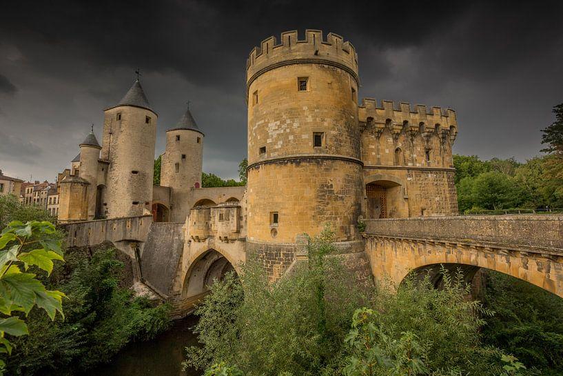 Duitse poort in Metz, Frankrijk van Joost Adriaanse