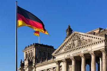 Berlijn Reichstag gebouw (Duitse Bondsdag) van Frank Herrmann