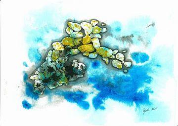 Steine unter Wasser von Larysa Golik