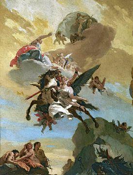 Giambattista Tiepolo, Perseus en Andromeda - 1730-1731 van Atelier Liesjes