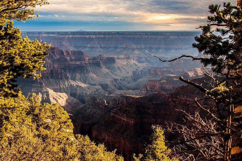 Zonsondergang in de Grand Canyon van Stefan Verheij