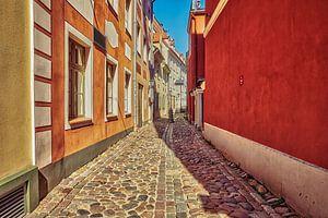 Straatbeeld vanuit de Baltische staten van eric van der eijk