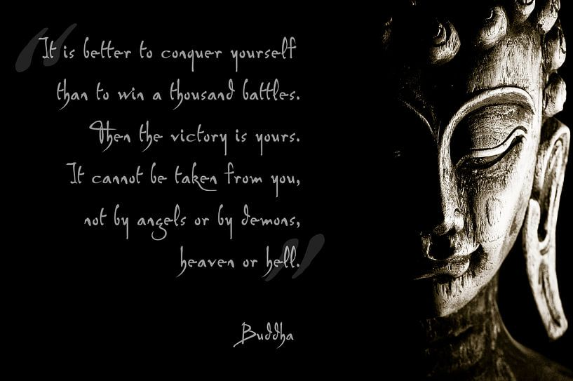 Buddha met inspirerende tekst van Nico van der Vorm