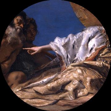 Giambattista Tiepolo, Neptunus biedt geschenken aan Venetië - 1745-1750 van Atelier Liesjes