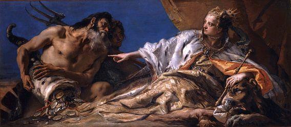 Giambattista Tiepolo, Neptunus biedt geschenken aan Venetië - 1745-1750