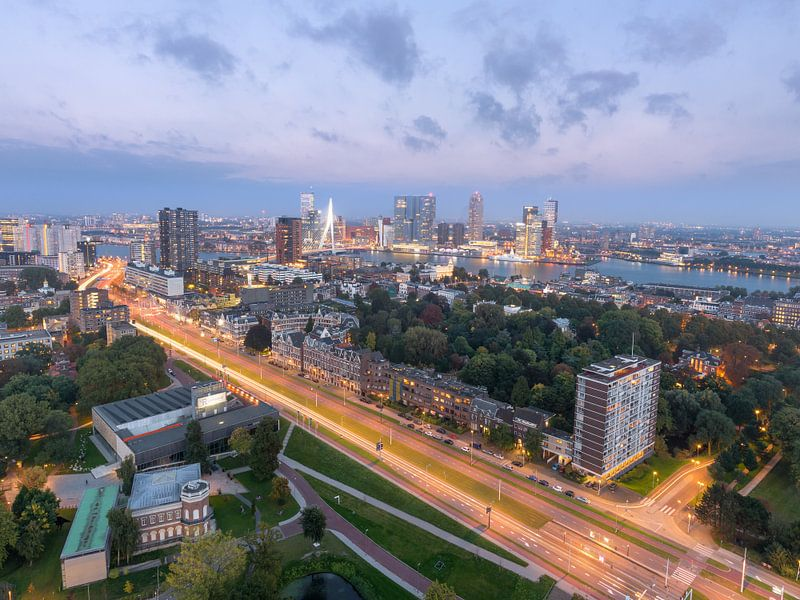 Rotterdam Skyline Erasmus MC & Erasmusbrug van Prachtig Rotterdam