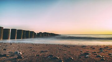 Zeeland - Sonnenuntergang von Jacqueline Lemmens