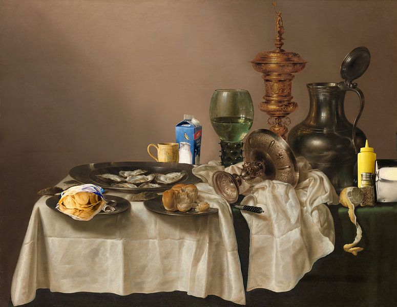 Stilleven met Vergulde Bokaal - (The What a Mess Edition) von Marja van den Hurk